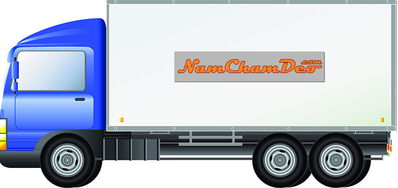 Gia công in Logo nam châm dẻo dán xe tải