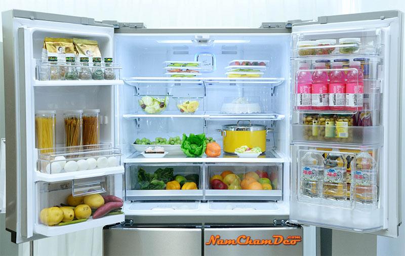 Nam châm dẻo in logo dán tủ lạnh