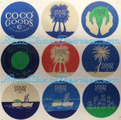 Logo nam châm dẻo dán tủ lạnh Coco Goods